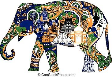 simboli, elefante indiano