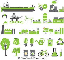 simboli, energia, verde
