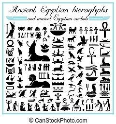 simboli, geroglifici, egiziano