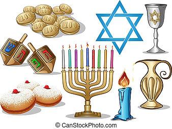 simboli, hanukkah, pacco