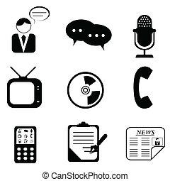 simboli, media, icone