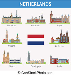 simboli, netherlands., città