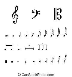 simboli, notazione, musicale