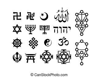simboli, orientale, sacral, religioso