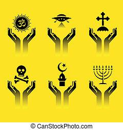 simboli, religione, mani