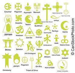 simboli, religioso, collezione