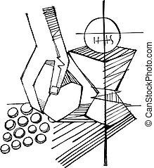 simboli, religioso, eucaristia, cristiano