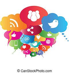 simboli, rete, sociale