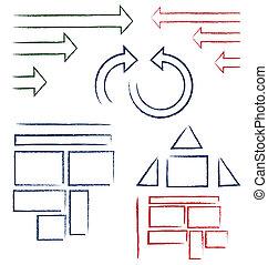 simboli, scritto mano