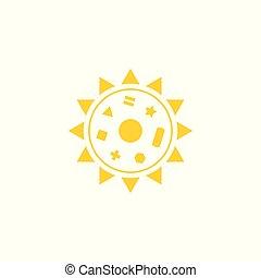simboli, sole, vettore