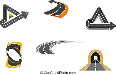 simboli, strada, autostrada