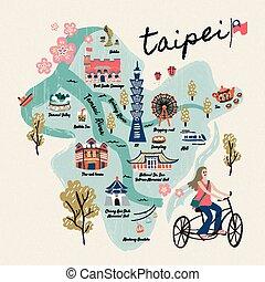 simboli, taiwan, bello, viaggiare