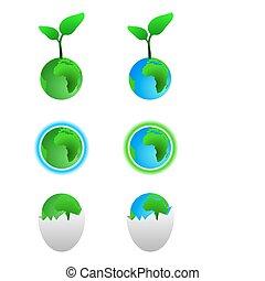 simboli, terra, verde