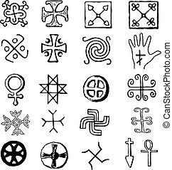 simboli, vario, religioso