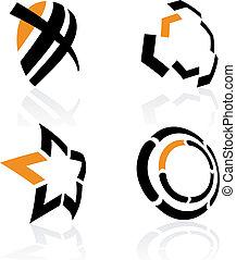 simboli, vettore, 3d