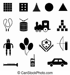 simboli, vettore, collezione, illustrazione