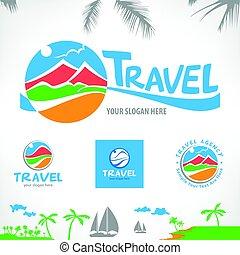 simboli, viaggiare, set