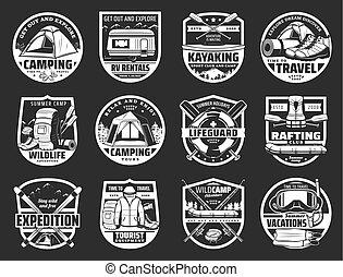simboli, viaggiare turismo, isolato, segni
