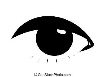 simbolico, occhio, femmina