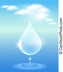 simbolo, acqua pulita