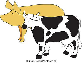 simbolo, allevamento, bestiame