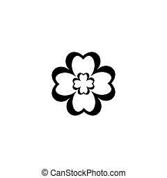 simbolo, amore, logotipo, sagoma, vettore