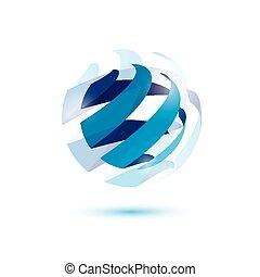 simbolo, astratto, globo