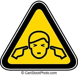 simbolo avvertimento, azzardo, triangolare