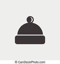 simbolo, berretto, isolato, illustrazione, segno, vettore, icona