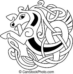 simbolo, cavallo, celtico