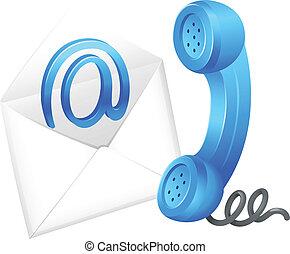 simbolo, contatto, email