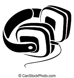simbolo, cuffie