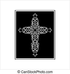 simbolo, disegno, cristiano, croce, cristianesimo