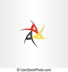 simbolo, disegno, triplo