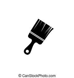 simbolo, illustrazione, vernice, vettore, spazzola, icona