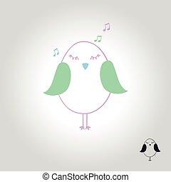 simbolo, illustrazione, vettore, uccello, logotipo, icona