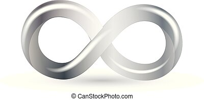 simbolo, infinità, argento