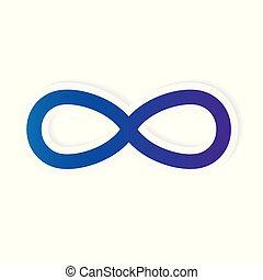 simbolo, infinità, icona