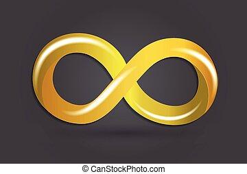 simbolo, infinità, oro