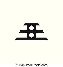 simbolo, numero, vettore, disegno, 8, linea geometrica