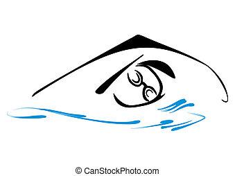 simbolo, nuoto
