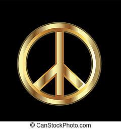 simbolo, pace, oro