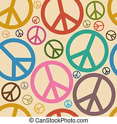 simbolo, pace, seamless, fondo, retro