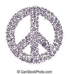simbolo, pace, sfondo bianco