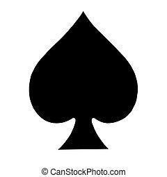 simbolo, picche, carta da gioco