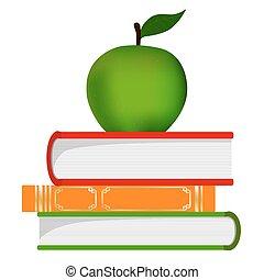 simbolo, -, pila, libri, educazione