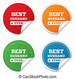 simbolo., premio, segno, marito, icon., mai, meglio