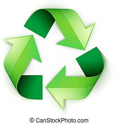 simbolo, riciclaggio, verde