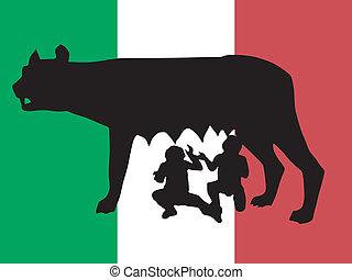 simbolo, roma, silhouette