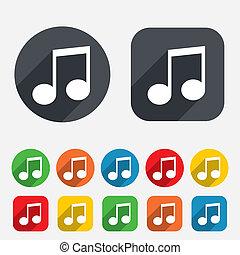 simbolo., segno, nota, musica, icon., musicale